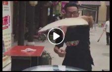 ویدیو نمایش خارق العاده نانوا چین 226x145 - ویدیو/ حرکات نمایشی خارق العاده یک نانوا در چین