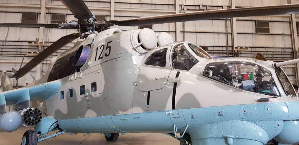 چرخبال MI35  - هند دو فروند چرخبال جنگی MI35 با افغانستان کمک نمود