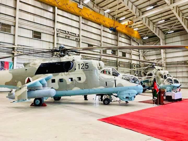 چرخبال MI35.2 - هند دو فروند چرخبال جنگی MI35 با افغانستان کمک نمود