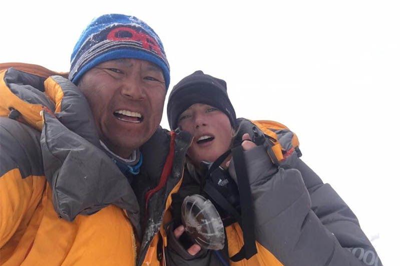 گابی - ثبت یک ریکورد تاریخی برای دختر کوهنورد 16 ساله
