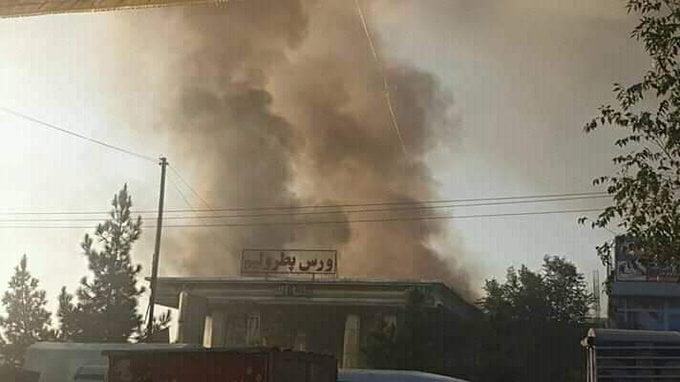 آتش سوزی کابل 2 - تصاویر/ آتش سوزی تانک تیل ورس پترولیم در غرب شهر کابل