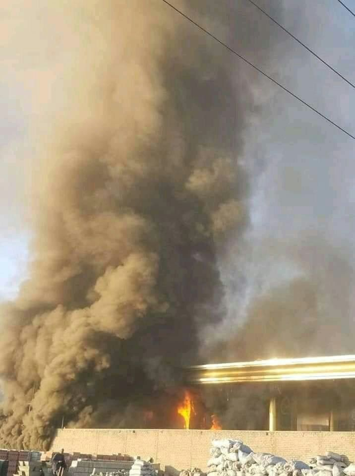 آتش سوزی کابل 4 - تصاویر/ آتش سوزی تانک تیل ورس پترولیم در غرب شهر کابل