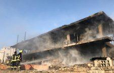 آتش سوزی کابل 6 226x145 - تصاویر/ آتش سوزی تانک تیل ورس پترولیم در غرب شهر کابل