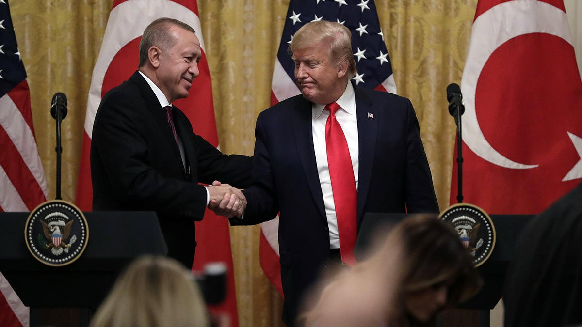 ترمپ اردوغان - استقبال گرم رییس جمهور امریکا از همتای ترکیاش
