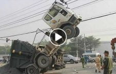تصادف وحشتناک لاری 226x145 - ویدیو/ تصادف وحشتناک دو لاری با یکدیگر