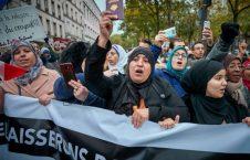 تظاهرات پاریس4 226x145 - تصاویر/ اعتراض به موج اسلام هراسی در پاریس
