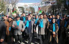 تظاهرات 226x145 - راهپیمایی هواداران عبدالله عبدالله با صدور قطعنامه شش مادهای پایان یافت