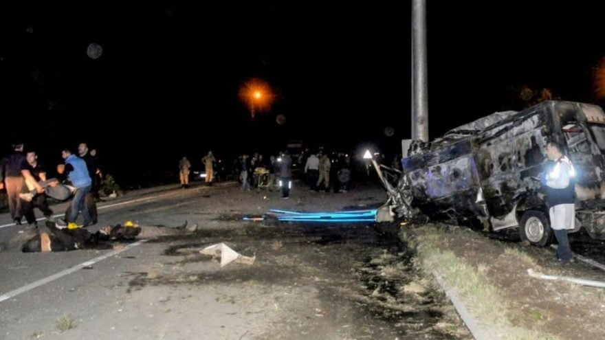 رویداد ترافیکی ایران - مرگ 28 باشنده افغان در یک رویداد ترافیکی در ایران
