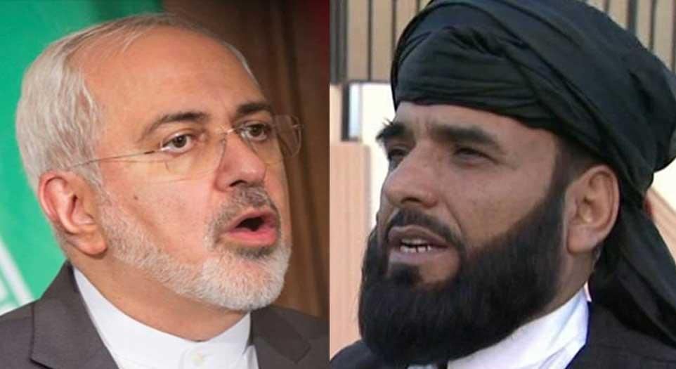 سهیل شاهین جواد ظریف - واکنش وزیر امور خارجه ایران به سخنان سخنگوی دفتر سیاسی گروه طالبان در قطر