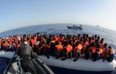 مهاجر 1 226x145 - نجات ۱۰۷ مهاجر غیرقانونی توسط قوای بحری لیبیا