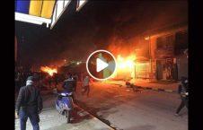 ویدیو آتش قونسلگری ایران نجف 226x145 - ویدیو/ لحظه به آتش کشیدن قونسلگری ایران در نجف