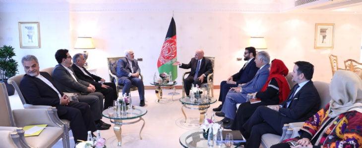 اشرف غنی ظریف - دیدار رییس جمهور غنی با وزیر امور خارجه ایران