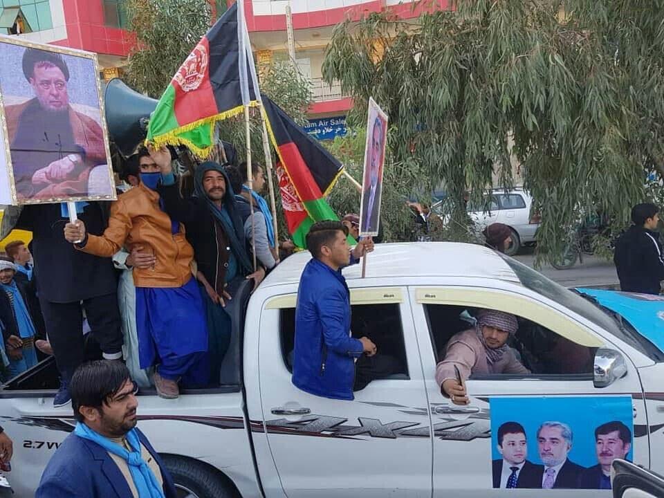 تظاهرات 3 - تصاویر/ واکنش باشنده گان ولایت نیمروز و کندز به تقلب در انتخابات