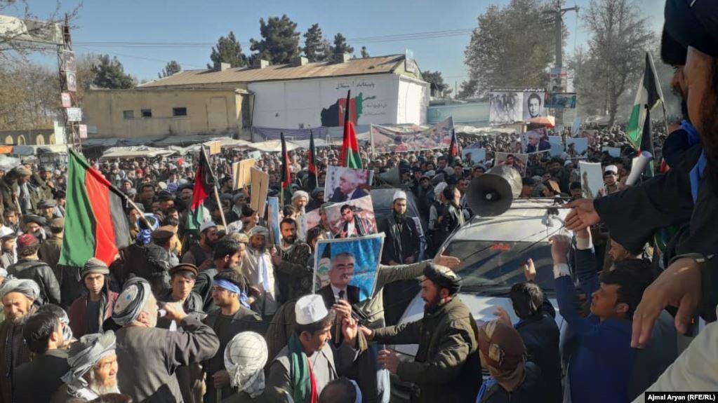تظاهرات - تظاهرات هواداران عبدالله عبدالله در ولایت تخار