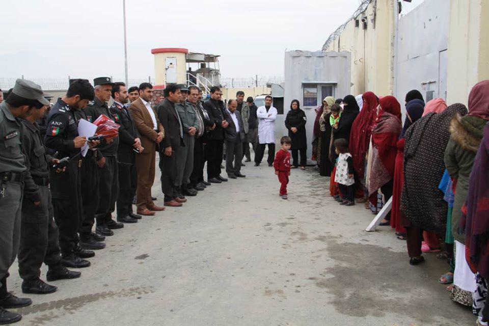 زندانی زن 3 - رهایی 25 زندانی زن از محبس اناثیه ولایت کابل