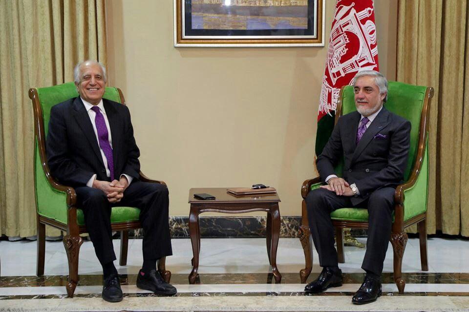 عبدالله خلیلزاد  - تصاویر/ دیدار خلیلزاد با ریاست اجرایی کشور