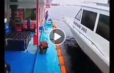 ویدیو نجات مرد برخورد مرگبار کشتی 226x145 - ویدیو/ نجات معجزه آسای یک مرد از برخورد مرگبار با کشتی