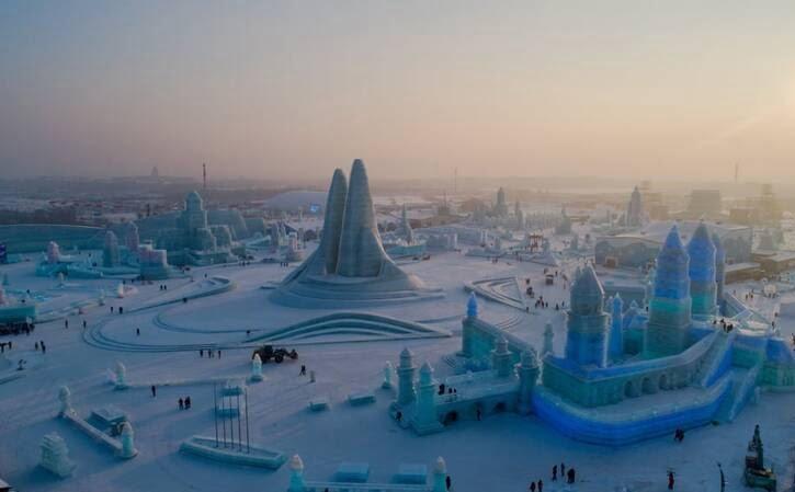 یخ - تصویر/ جشنواره دیدنی برف و یخ در چین