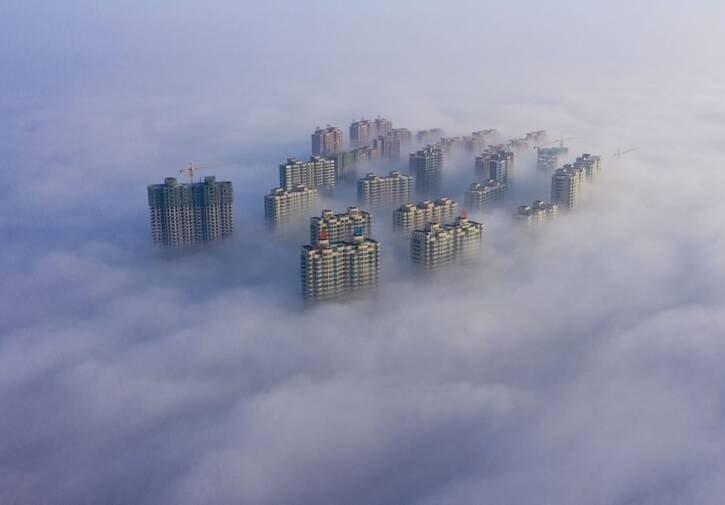 آسمان خراش - تصویری دیدنی از آسمان خراشهای چین
