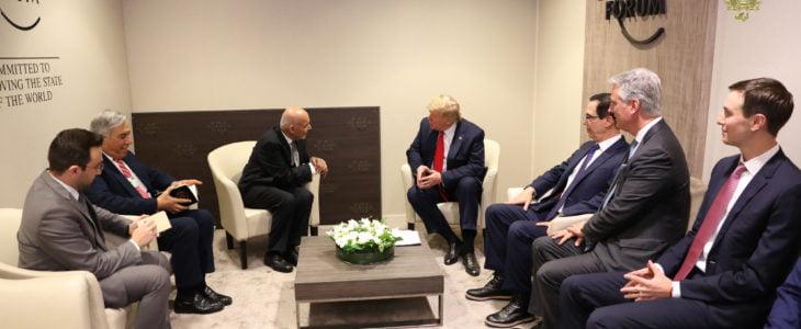 اشرف غنی دونالد ترمپ - دیدار رؤسای جمهور افغانستان و امریکا