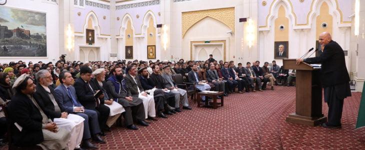 اشرف غنی 5 - نشست رییس جمهور غنی با باشنده گان ناحیۀ پنجم شهر کابل