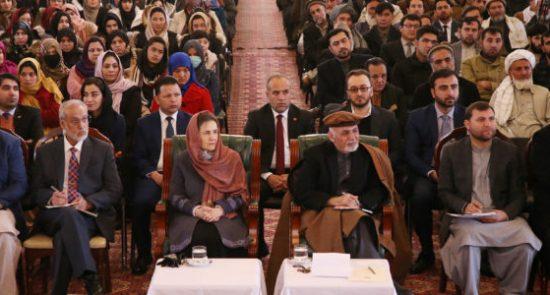 اشرف غنی 9 550x295 - دیدار رییس جمهور غنی و باشنده گان کابل و پغمان در ارگ