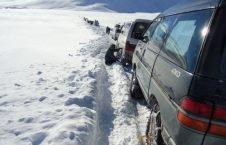 برف 226x145 - برفباریهای سنگین در شاهراه کابل_بامیان