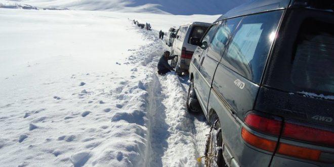 برف - برفباریهای سنگین در شاهراه کابل_بامیان
