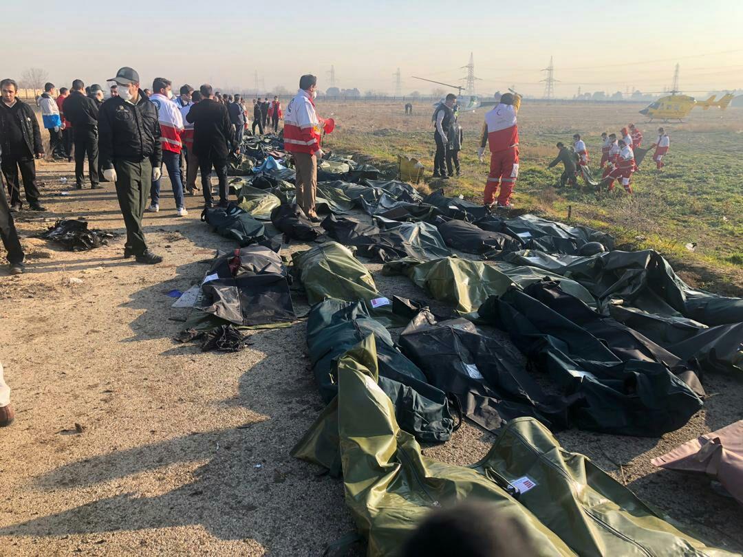 سقوط - جان باختن تعدادی از هموطنانمان در حادثه سقوط طیاره مسافربری در ایران