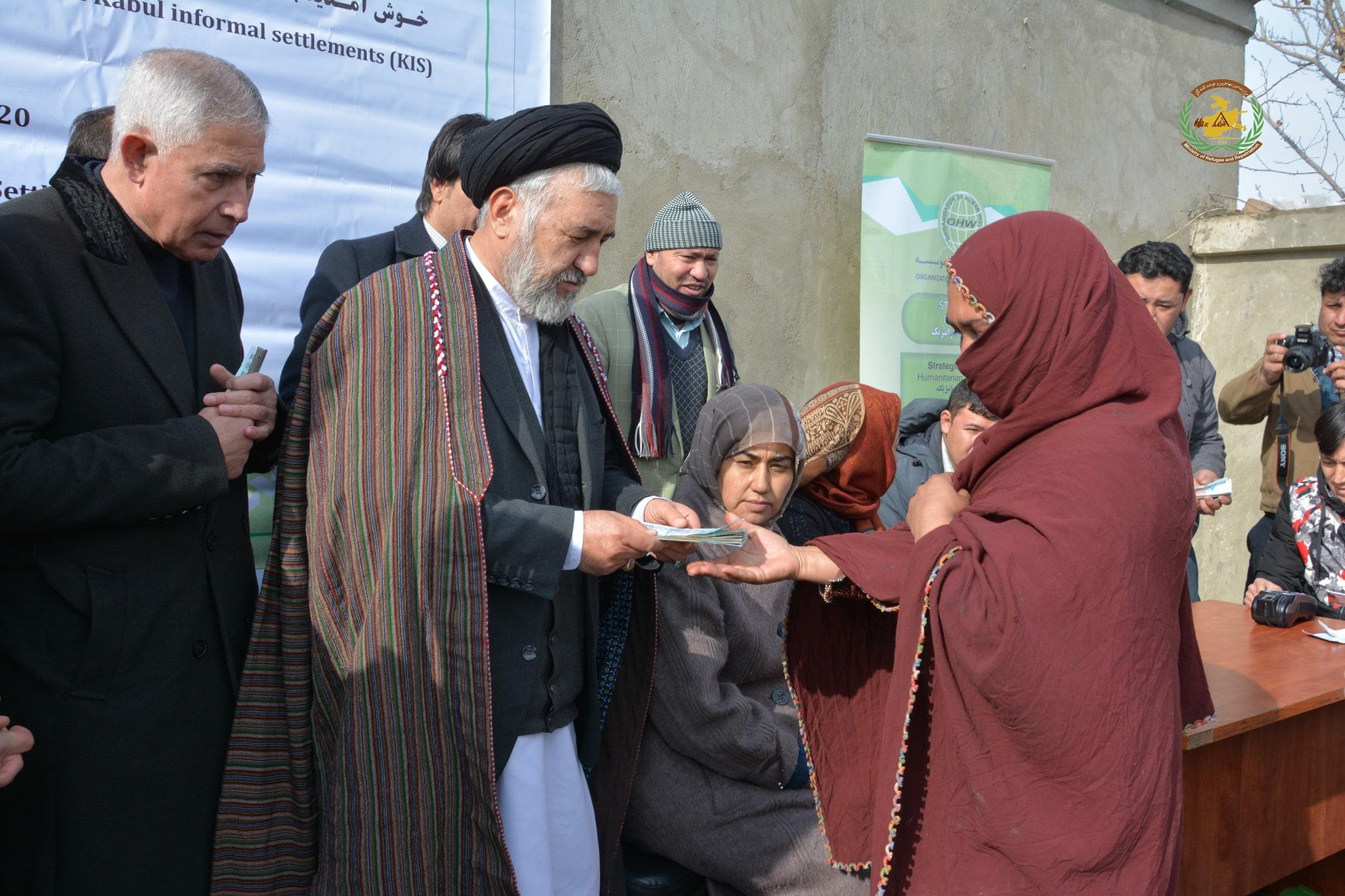 سیدحسین عالمی بلخی - کمک رسانی به صدها خانواده بیجاشده در ساحه دیوان بیگی شهر کابل