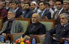 غنی کرزی عبدالله 226x145 - پاسخ غنی به کرزی و عبدالله درباره روند صلح: دستتان به انگور نمیرسد، میگویید ترش است!