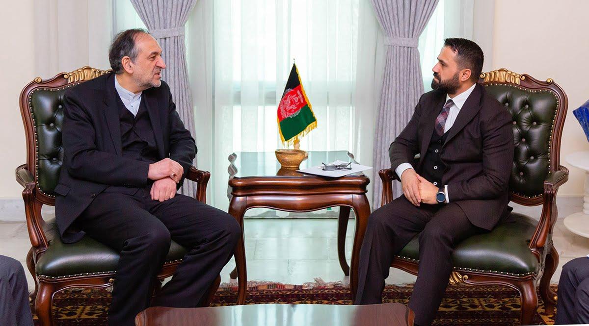 میرویس ناب بهادر امینیان - دیدار معین همکاری های اقتصادی وزارت امور خارجه با سفیر ایران در کابل