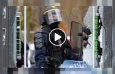 ویدیو لت کوب وحشیانه فرانسه 226x145 - ویدیو/ لت و کوب وحشیانه معترضین در فرانسه