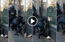 ویدیو لت کوب وحشیانه پولیس فرانسه 226x145 - ویدیوی جنجالی لت و کوب وحشیانه معترضین توسط پولیس فرانسه