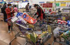 چین مارکیت کرونا 8 226x145 - تصاویر/ هجوم باشنده گان چین به مارکیت های موادغذایی