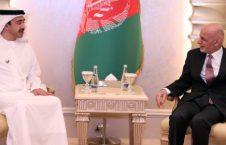 اشرف غنی شیخ عبدالله بن زاید آل نهیان 226x145 - دیدار رییس جمهور غنی با وزیر خارجه امارات متحده عربی