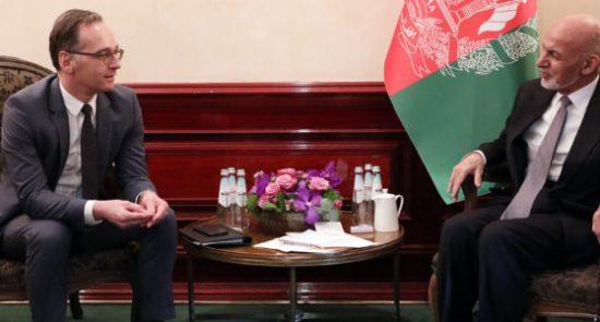 اشرف غنی هایکو ماس 550x295 - اعلام حمایت جرمنی از پروسه صلح در افغانستان