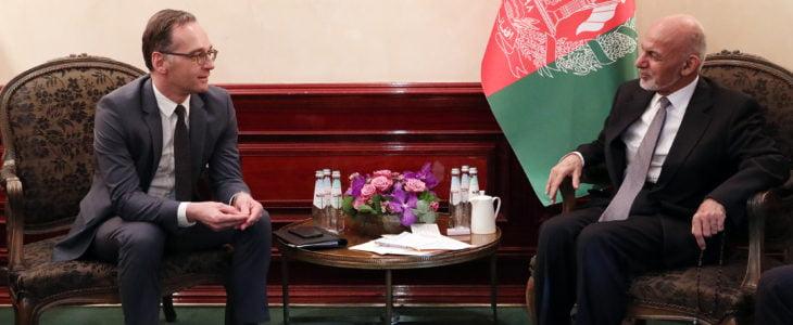 اشرف غنی هایکو ماس - اعلام حمایت جرمنی از پروسه صلح در افغانستان