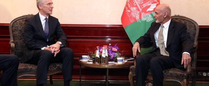 اشرف غنی ینس ستولتنبرگ - بررسی توافق با طالبان در دیدار رییس جمهور غنی با وزرای خارجه و دفاع امریکا