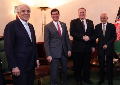 اشرف غنی2 417x295 - بررسی توافق با طالبان در دیدار رییس جمهور غنی با وزرای خارجه و دفاع امریکا