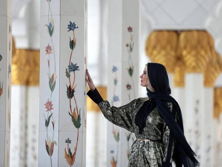 ایوانکا ترمپ 4 - تصاویر/ بازدید ایوانکا ترمپ از مسجد شیخ زاید