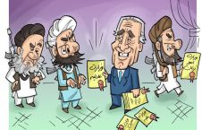 خلیلزاد طالبان 226x145 - کاریکاتور/ خلیلزاد، طالبان و صلح!