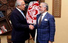 خلیلزاد عبدالله 226x145 - دیدار رییس شورای عالی مصالحه ملی با فرستاده خاص امریکا برای صلح افغانستان