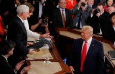 دونالد ترمپ نانسی پلوسی 4 226x145 - تصاویر/ اقدام جنجالی ترمپ پیش از شروع سخنرانی در کانگرس