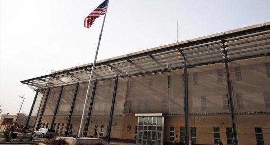 سفارت امریکا بغداد 550x295 - سفارت امریکا در بغداد هدف حمله راکتی قرار گرفت