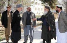 دیدار سیاف و کرزی با غنی و عبدالله