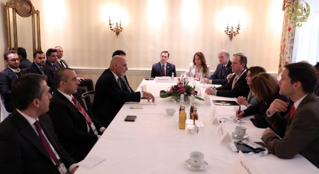 غنی پلوسی - دیدار رییس جمهور غنی با رییس مجلس نماینده گان ایالات متحده امریکا