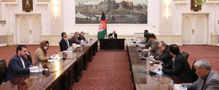 اشرف غنی شورای سراسری صرافان - دیدار رییس جمهور غنی با شورای سراسری صرافان افغانستان