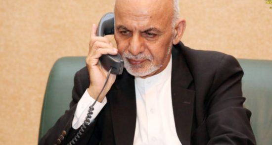 اشرف غنی 3 550x295 - مکالمه تلیفونی رییس جمهور غنی با همتای ترکمنستانی اش