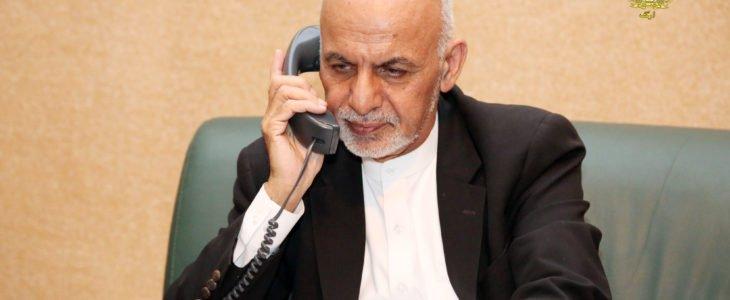 اشرف غنی 3 - گفتگوی تیلفونی رییس جمهور غنی با جنرال قمر جاوید باجوه
